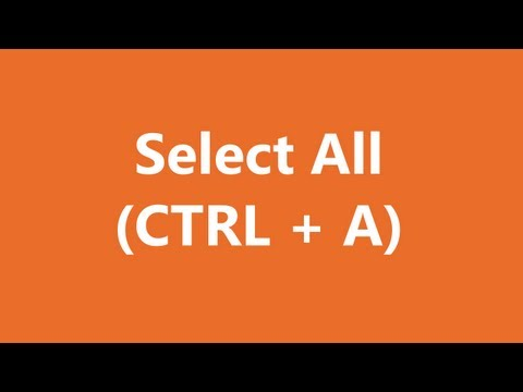 Excel Shortcuts - Select All