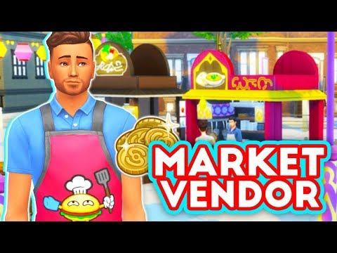 MARKET VENDOR CAREER🌮🍣 // MOD REVIEW | THE SIMS 4