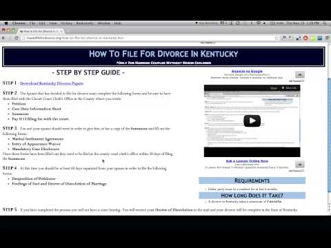 How to File For Divorce in Kentucky