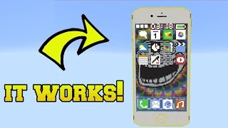 Download REAL IPHONE WITH WORKING APPS IN MINECRAFT!! Video