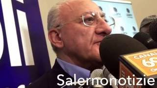 Salerno Comunali 2016: intervista al Governatore De Luca dopo il voto