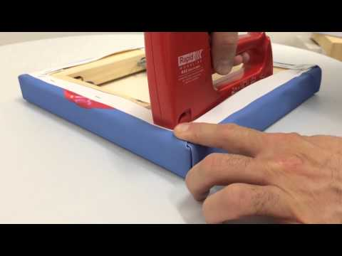 How to fold canvas corners