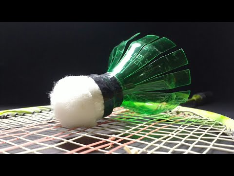How to make shuttlecock with plastic bottle