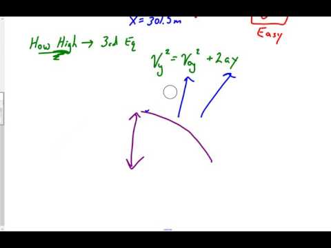Projectile at 25 degrees but no Velocity Initial