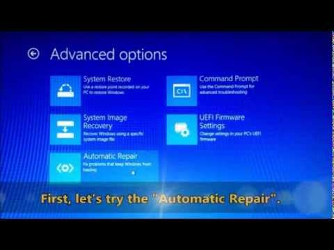 Windows 8 - fixing problems using the
