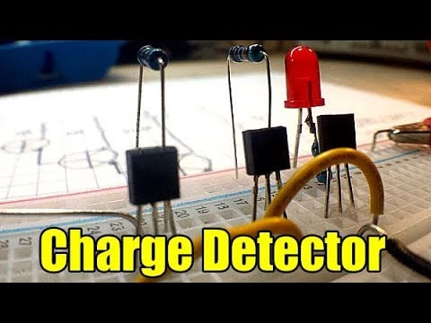 Just for fun: 3 transistor charge detector( ghost detector)
