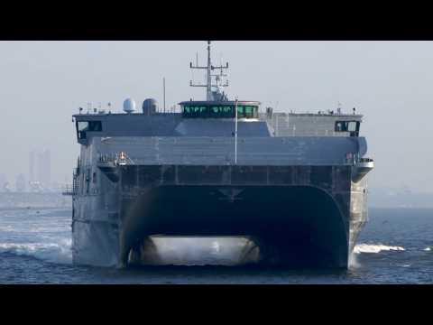 US Navy - USNS Spearhead Joint High-Speed Vessel 1 (JHSV 1) [1080p]