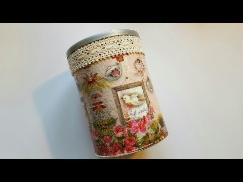 UGLY COFFEE CAN UPCYCLE | MOD PODGE CRAFTS