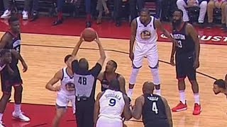 NBA Ref Fools Klay Thompson and Trevor Ariza with Pump Fake During Jump Ball