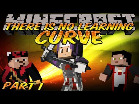 Minecraft THERE IS NO LEARNING CURVE 3 Co-op Custom Map! - No heads are better then 3!