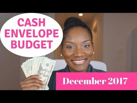 December 2017 Cash Envelopes   Cash Envelope System   Cash Envelope Budget December 2017