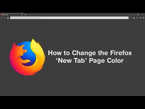 How to Change the Firefox New Tab & about:blank Page Color