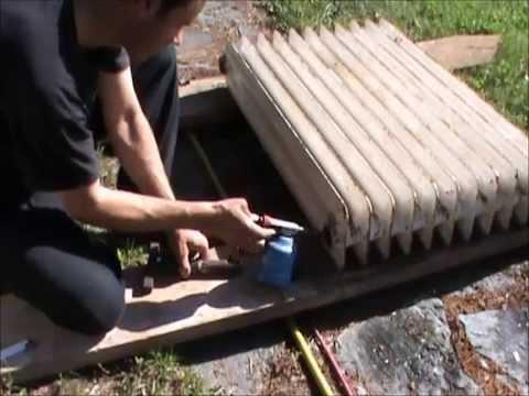 Restoring cast iron radiator Ideal Narag 1935  - part 1
