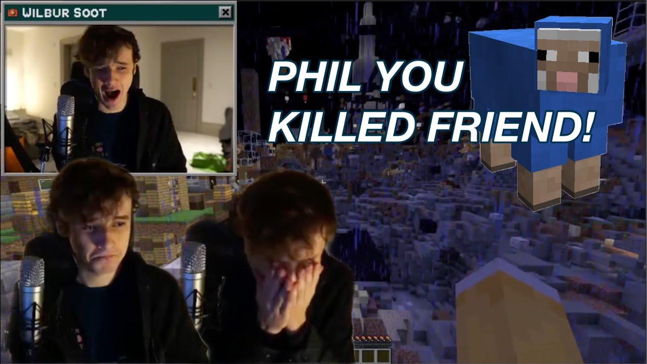 Ghostbur yells at Philza for Killing 'Friend' (his blue sheep)