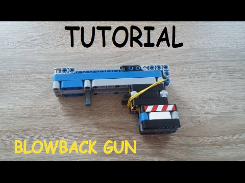 Lego technic blowback gun TUTORIAL (How to make a lego technic blowback gun)
