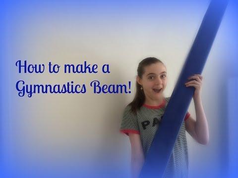 HOW TO MAKE A GYMNASTICS BEAM!! DIY, easy!