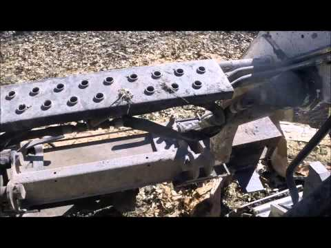 054 RSW Improved Homemade Skid Steer Log Splitter and Grapple Bucket Actiont