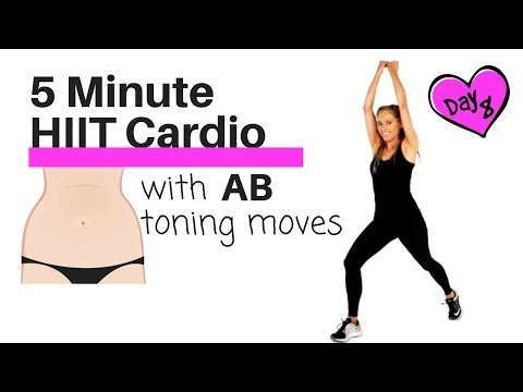 FAT BURNING HOME CARDIO HIIT EXERCISE -  TO TONE YOUR ABS AND OBLIQUES -TABATA STYLE WORKOUT