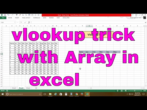 excel vlookup function with array