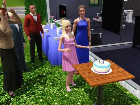sims 3 birthday party