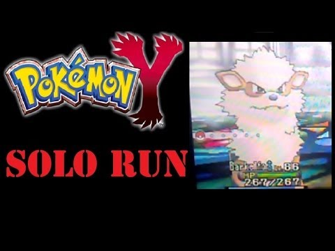 Pokemon X and Y - Solo Running the Pokemon League Champion - Arcanine!
