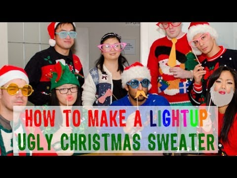 How to Make a Light-up Ugly Christmas Sweater