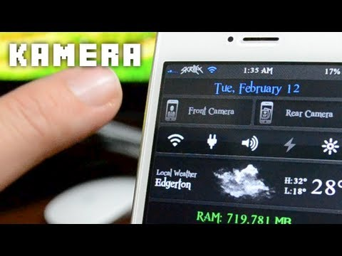 Best iOS 6 Cydia Widgets - Kamera For iPhone & iPod Touch
