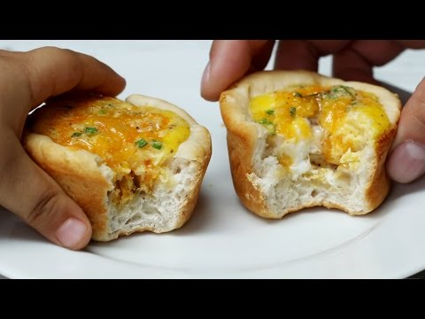 Cheesy Biscuit & Egg Breakfast Cups | Tasty Junior