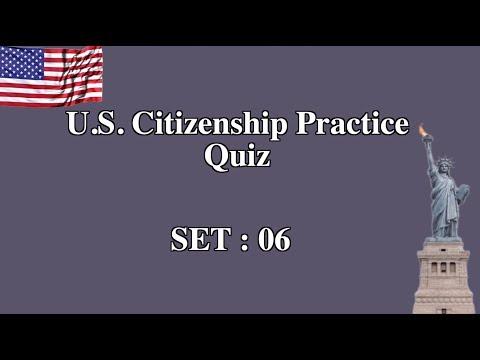 US Citizenship Practice Quiz (Set 6)