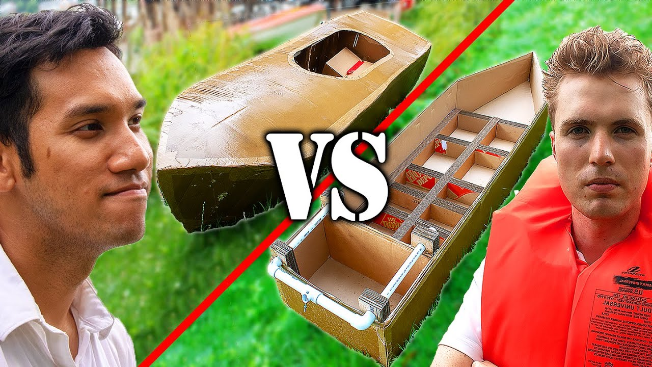 Motorized Cardboard Boat Race CHALLENGE vs PeterSripol!