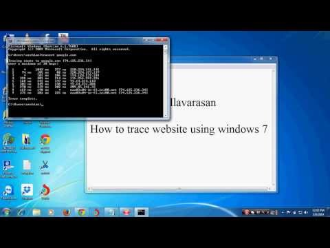 How to trace a website ip address using command prompt in windows 7
