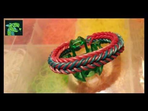 Dragon Scale Triple Threat on Rainbow Loom's Finger Loom