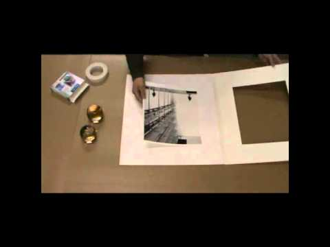 How to assemble a picture mount-studio picture frames.avi