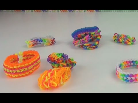 Loom Bandz Dragon scale Übersicht Infovideo How to make a rainbow loom dragon scale bracelet