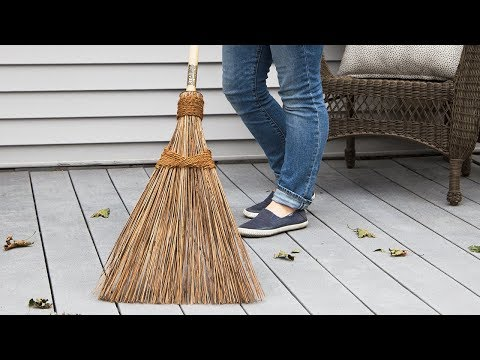 Dirt, leaves, snow . . . this broom sweeps it all.