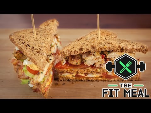 Spicy Chicken Club Sandwich (Bulking, Macronutrients in video)
