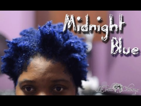 Midnight Blue Hair / Natural Hair colored / How to color natural hair with Pravana vivids