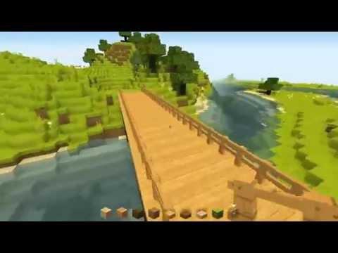 Minecraft: Making a simple wooden bridge