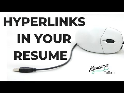 How to Hyperlink Your Email, LinkedIn, and Other Links In Your Resume