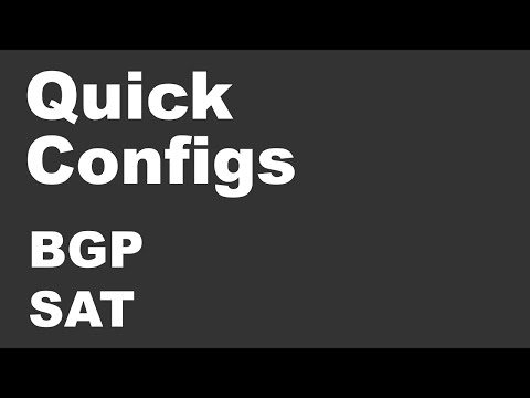 Quick Configs - BGP Selective Address Tracking (sat, route-map)