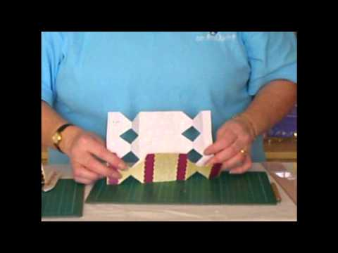 CUP TV Episode 101 - Carol Clarke makes a Holly and Swirls Cracker Shaped Treat or Favour Box