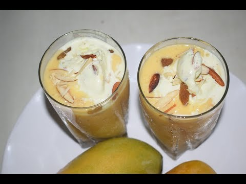 Mango Shake | Ice Cream Mango Shake | Refreshing Drink