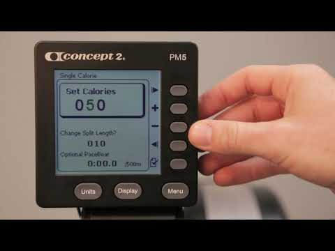 Setting up a Calorie Workout on your Concept2 Monitor
