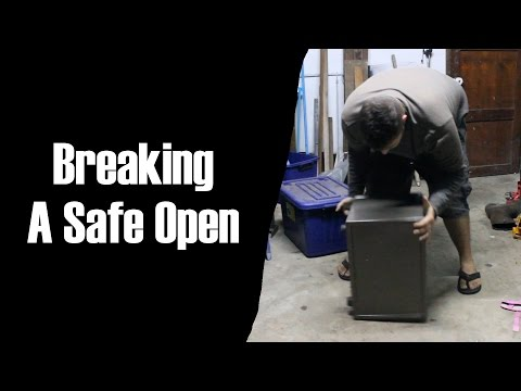 Trying to break open a safe
