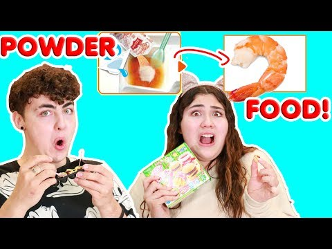 TINY JAPANESE MEALS! MAKING SHRIMP OUT OF POWDER! POPIN' COOKIN' KITS