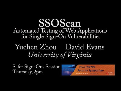 SSOScan: Automated Testing of Web Applications for Single Sign-On Vulnerabilities