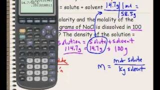 Molarity And Molality Calculations
