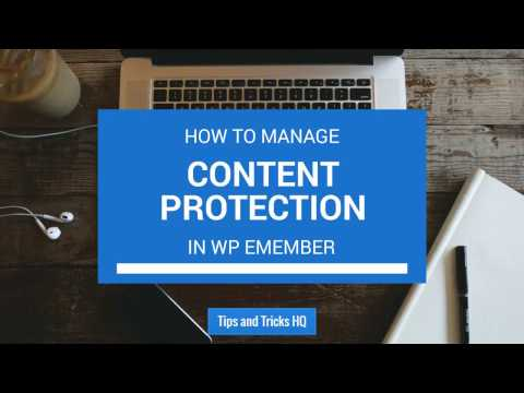 How to Manage Content Protection in WP eMember Plugin