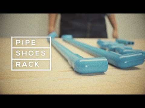 Pipe Shoes Rack ชั้นวางรองเท้าจากท่อ PVC
