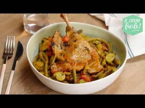 Recette facile de Confit de canard aux légumes verts